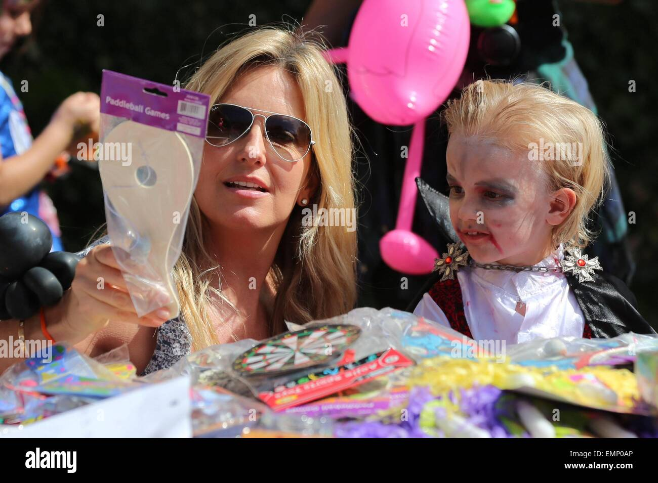Penny Lancaster's son Aiden Stewart dresses as Dracula for a ...