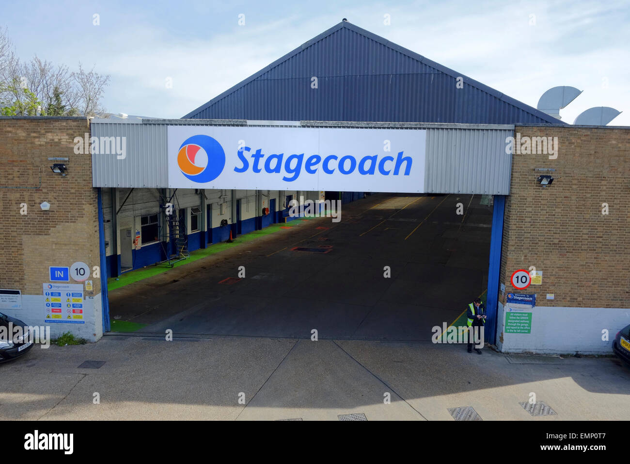Stagecoach bus depot in Bedford Stock Photo, Royalty Free