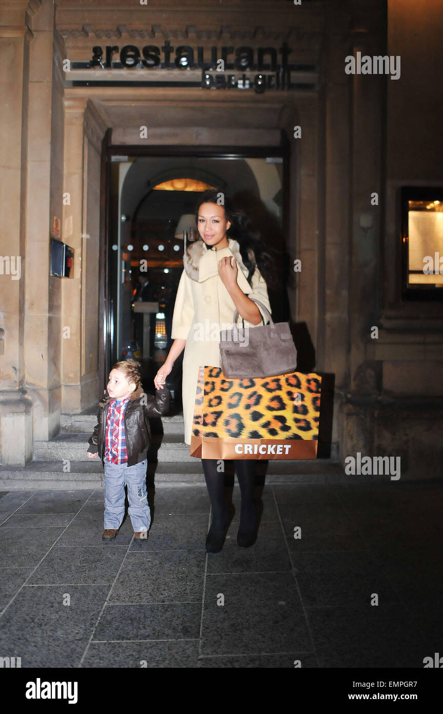 10.DECEMBER.2011. LIVERPOOL REBECCA FERGUSON WITH HER SON ...