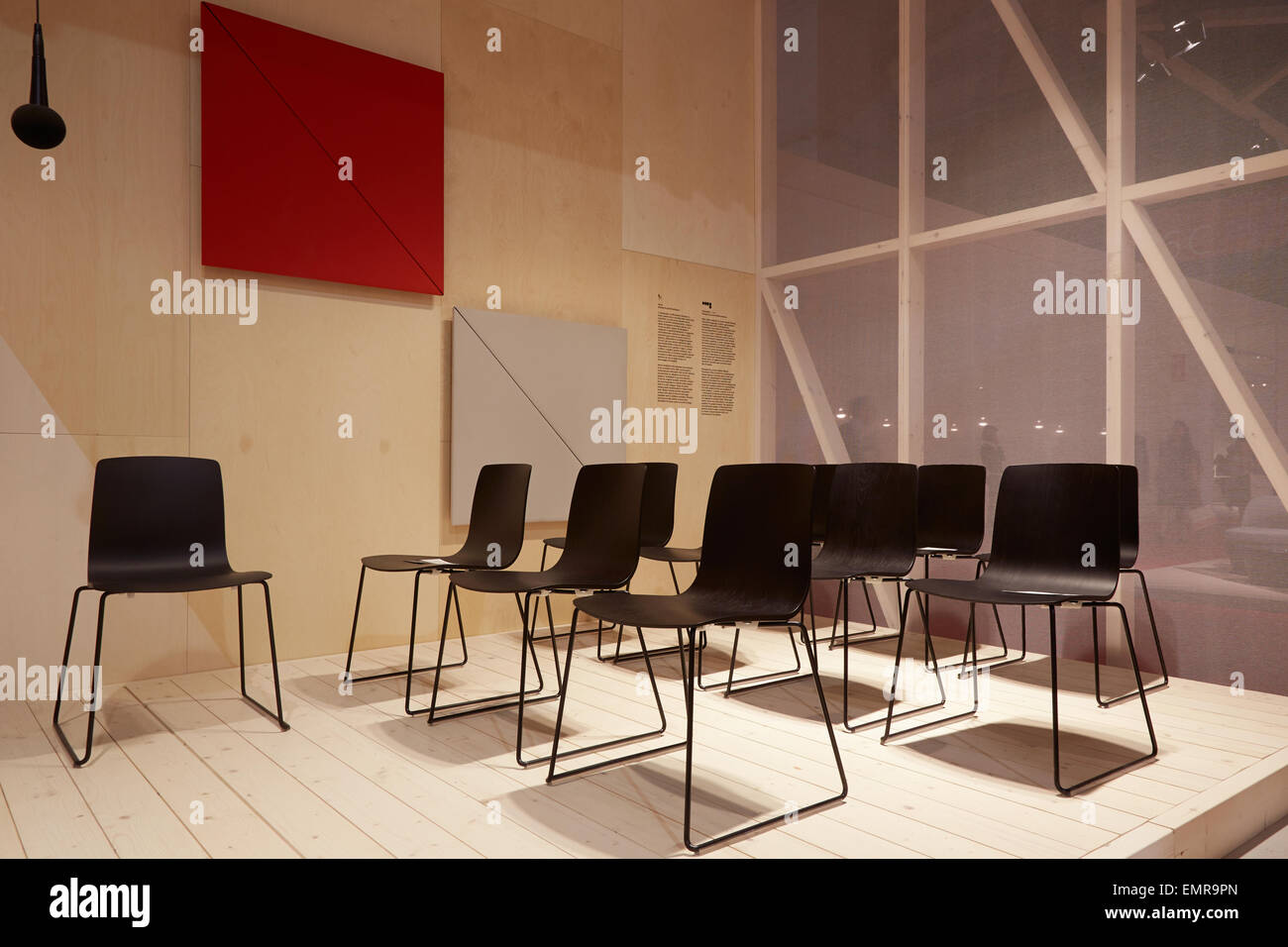 Milan italy april 14 milan design week arper stand at for Salone del mobile vitra