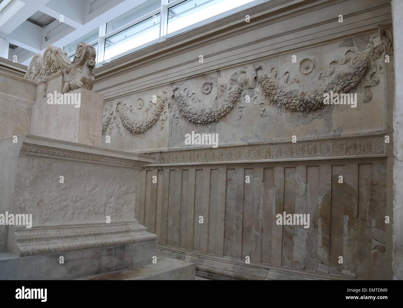 Italy. Rome. Ara Pacis Augustae. Altar dedicated to Pax ...