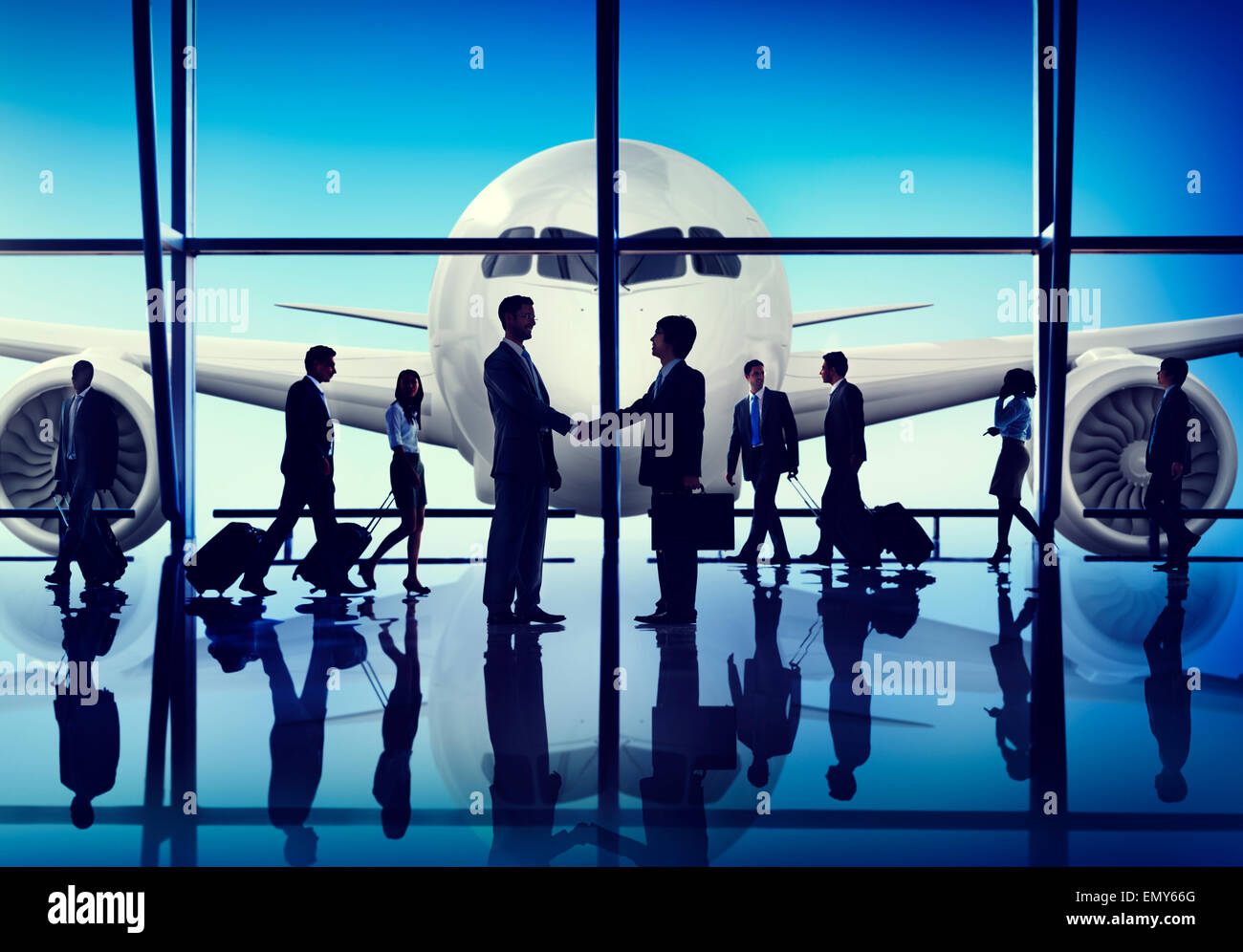 Free Images Traveling People Airport Bridge Business: Business People Travel Handshake Airport Concept Stock