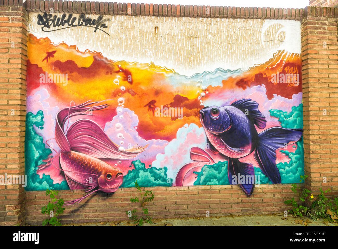 Graffiti wall barcelona - Stock Photo Wall Covered With Graffiti In Barcelona Catalonia Spain