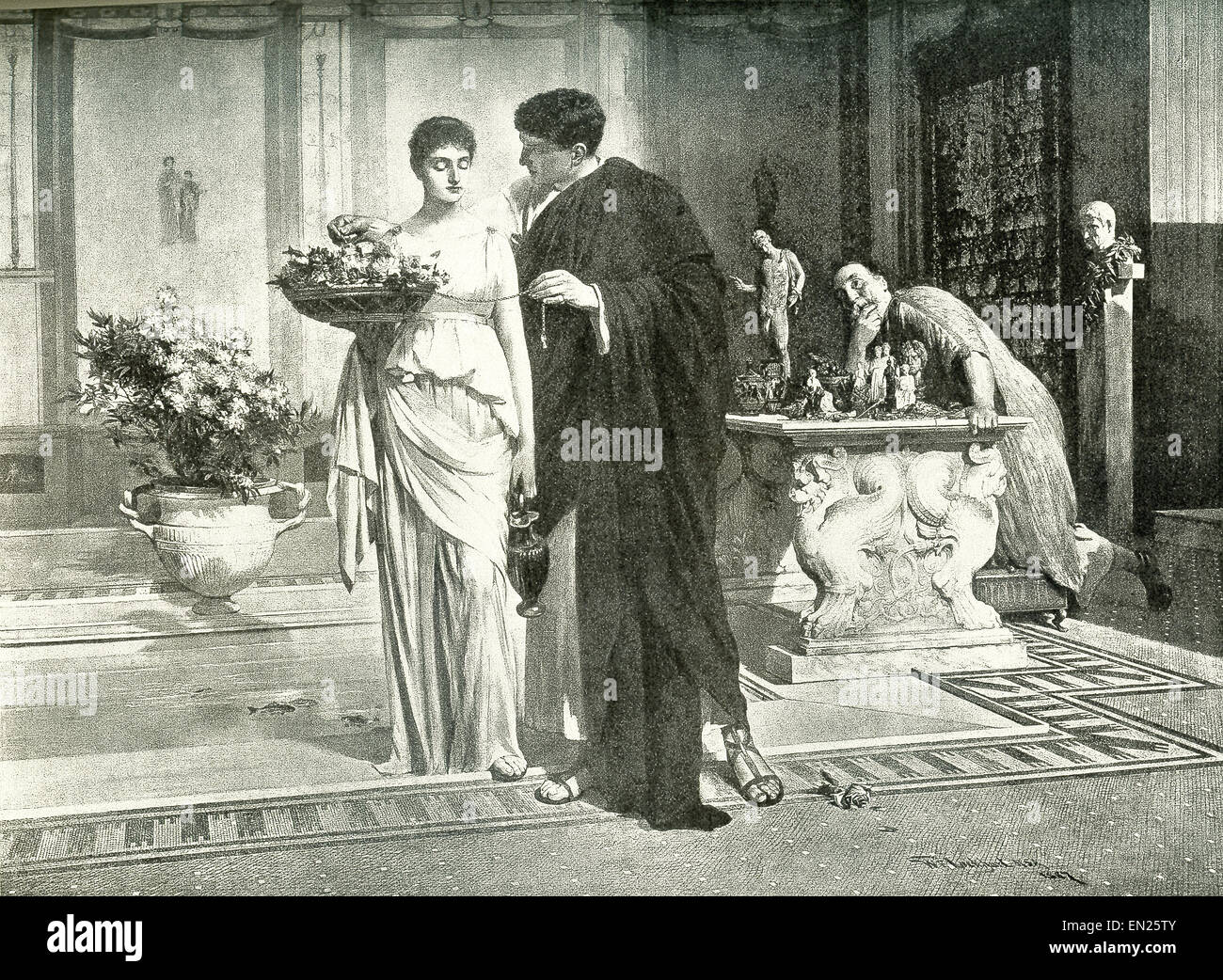 characters in a novel stock photos characters in a novel stock glaucus and nydia are characters in the 1834 novel the last days of pompeii