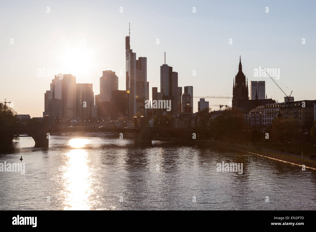 Frankfurt Downtown Skyline And The River Main Frankfurt Am Main - Frankfurt river
