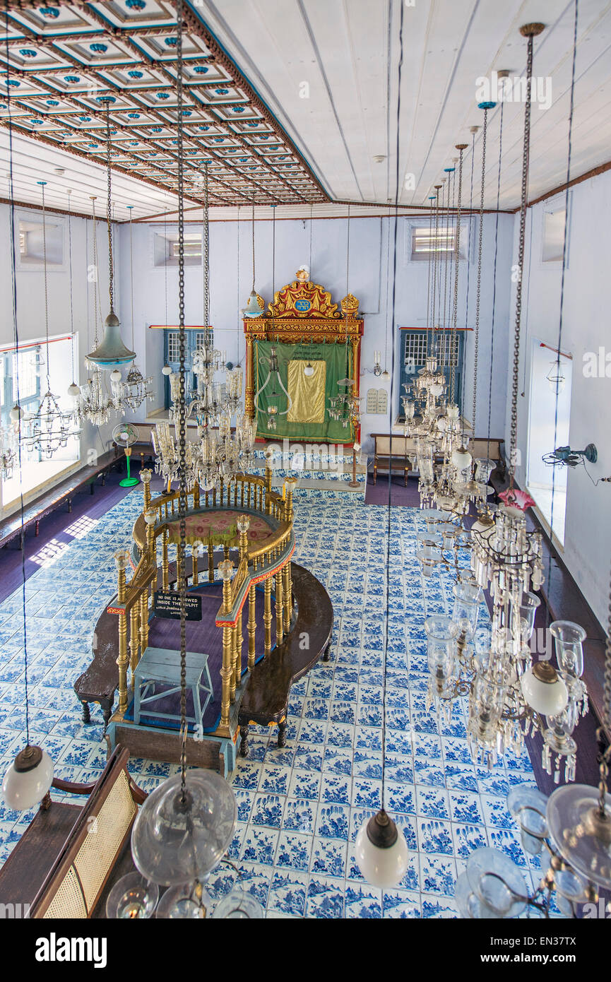 Car interior kochi - Interior Of The Paradesi Synagogue Jewish Quarter Or Jew Town Mattancherry Kochi