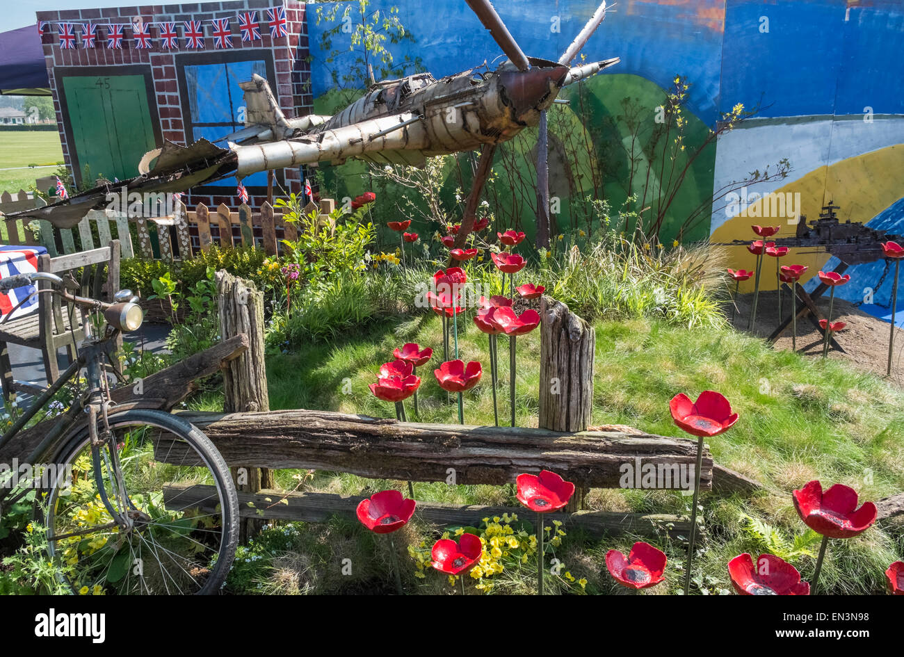 Garden design with world war 2 theme at harrogate spring for Garden design harrogate