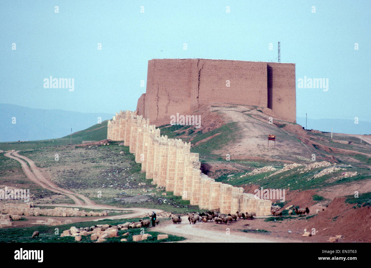 Historic archaeological ruined Assyrian city of Nineveh, a ...