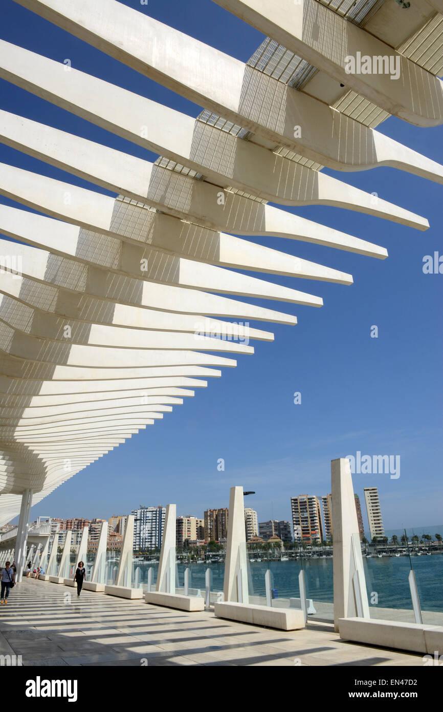 Modern Architecture Spain malaga promenade in spain modern architecture stock photo, royalty