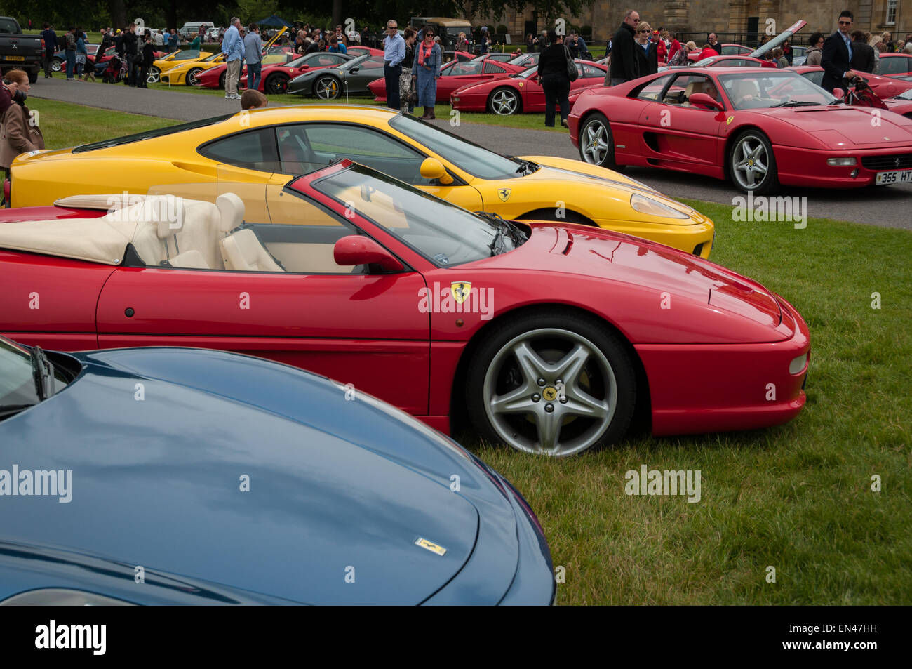 Collection Of Italian Sports Cars At The Ferrari Owners Club Rally At  Blenheim Palace, Woodstock, Oxfordshire