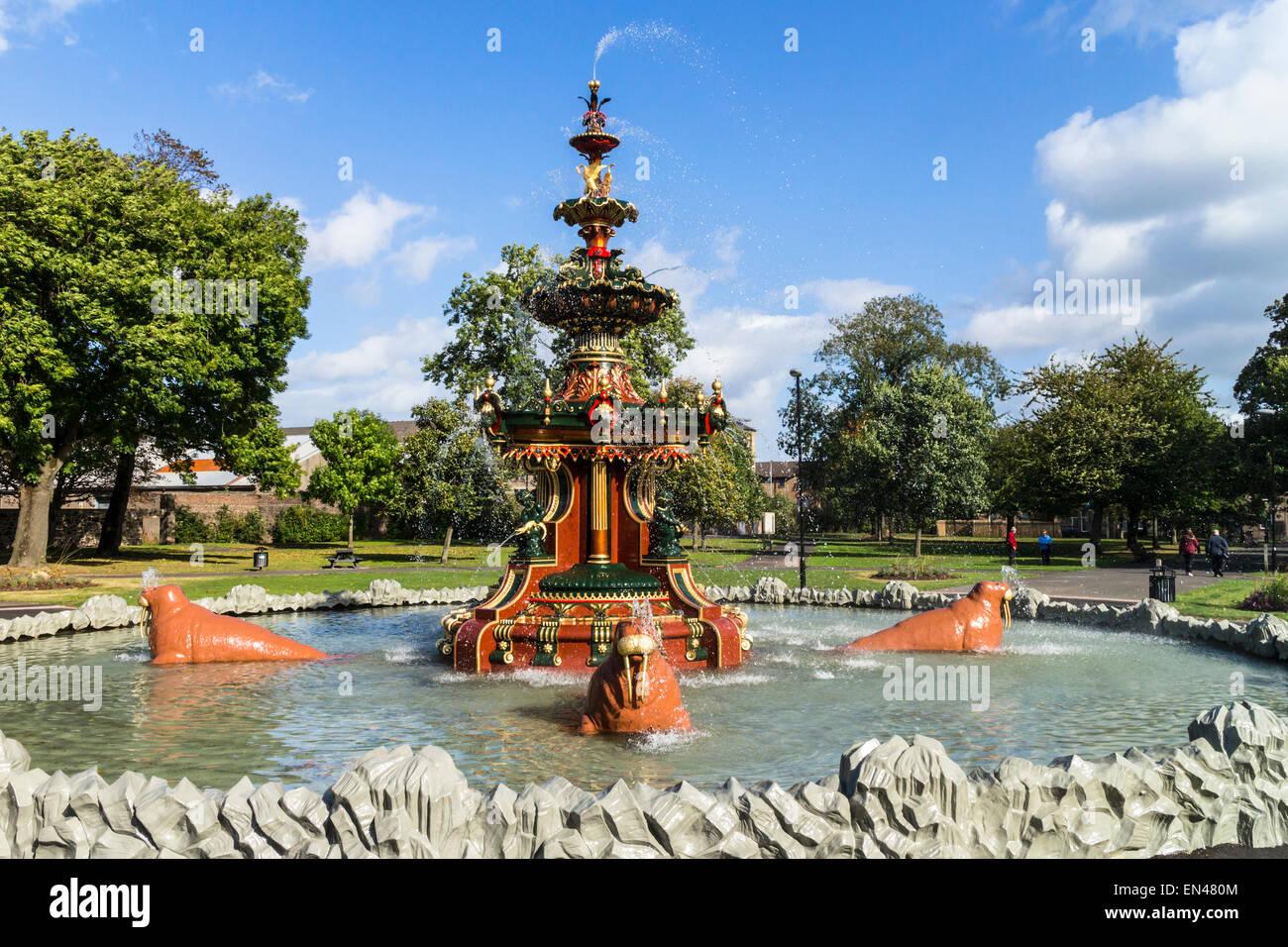 Stock Photo   The Newly Restored Victorian Fountain, Fountain Gardens