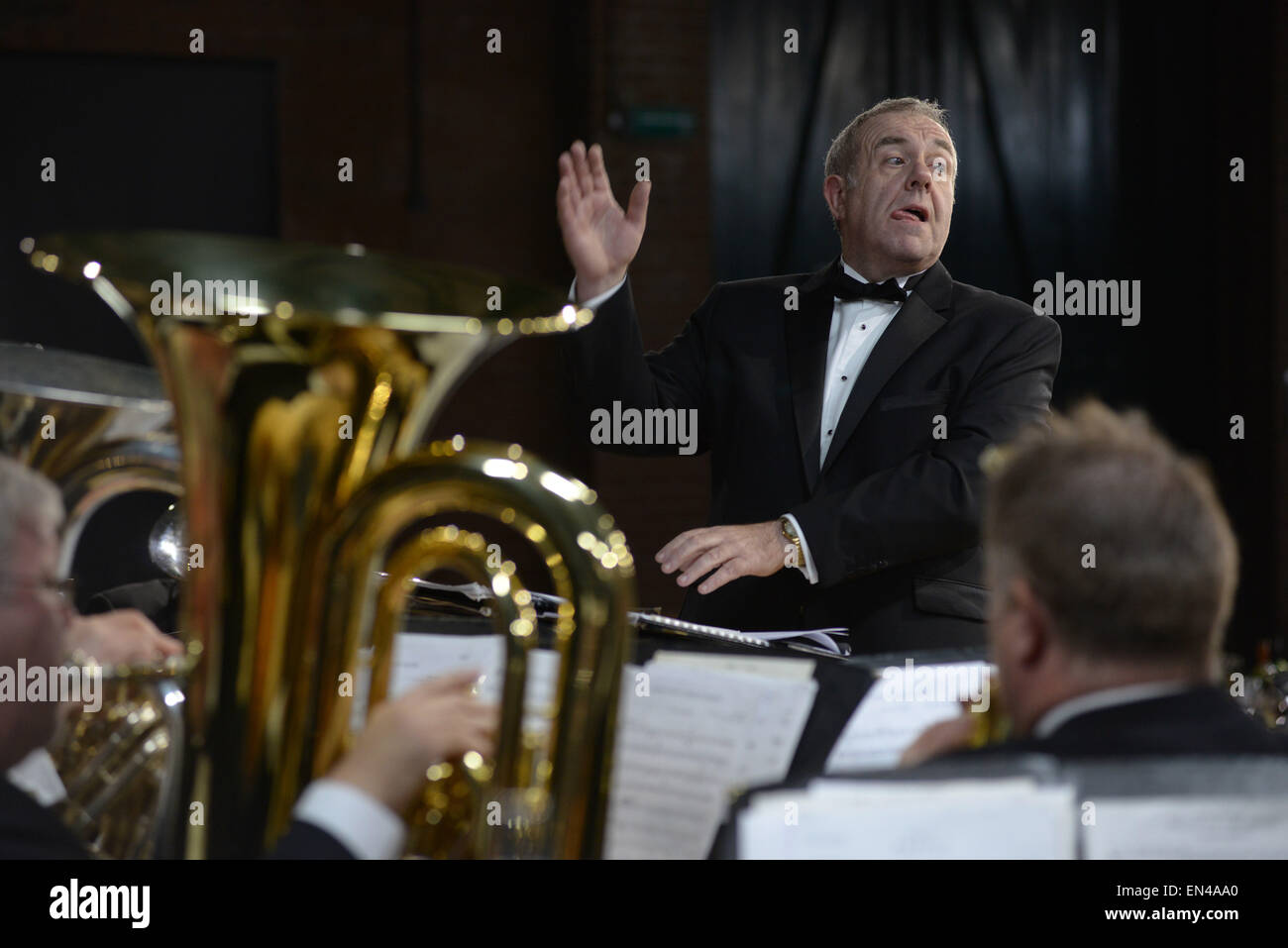 Conductor Brian Grant Grimethorpe Colliery Band in concert at