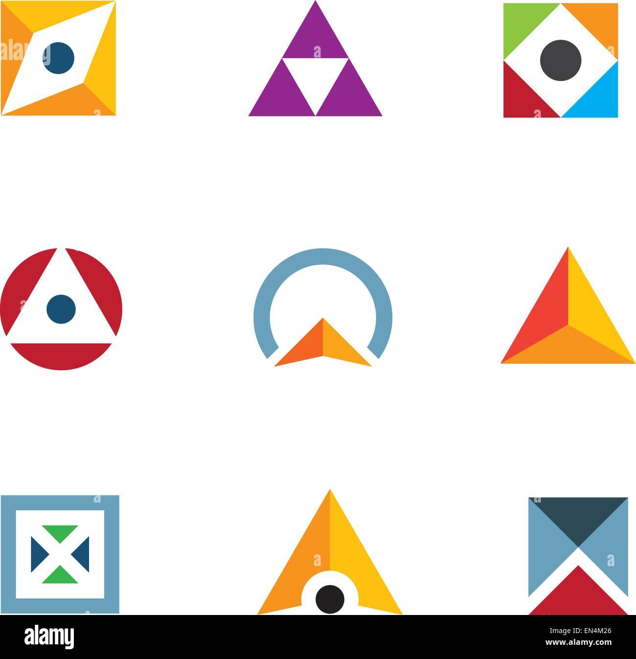 Geometric shape triangle circle and cube inspiring combination geometric shape triangle circle and cube inspiring combination logo icon buycottarizona