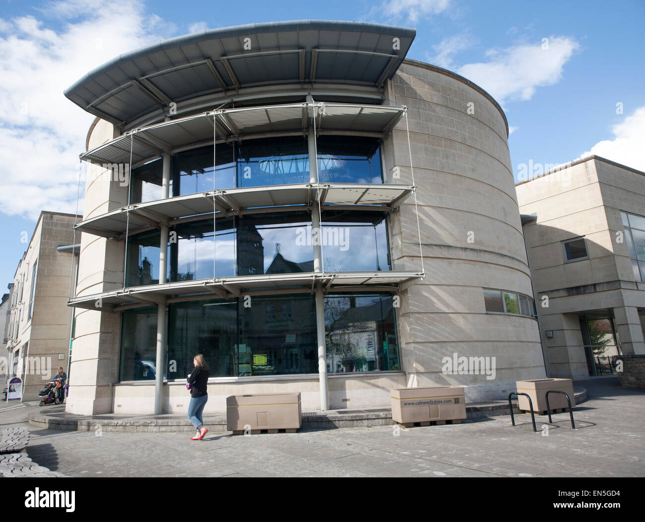 Modern architecture of new public library building calne for New modern architecture