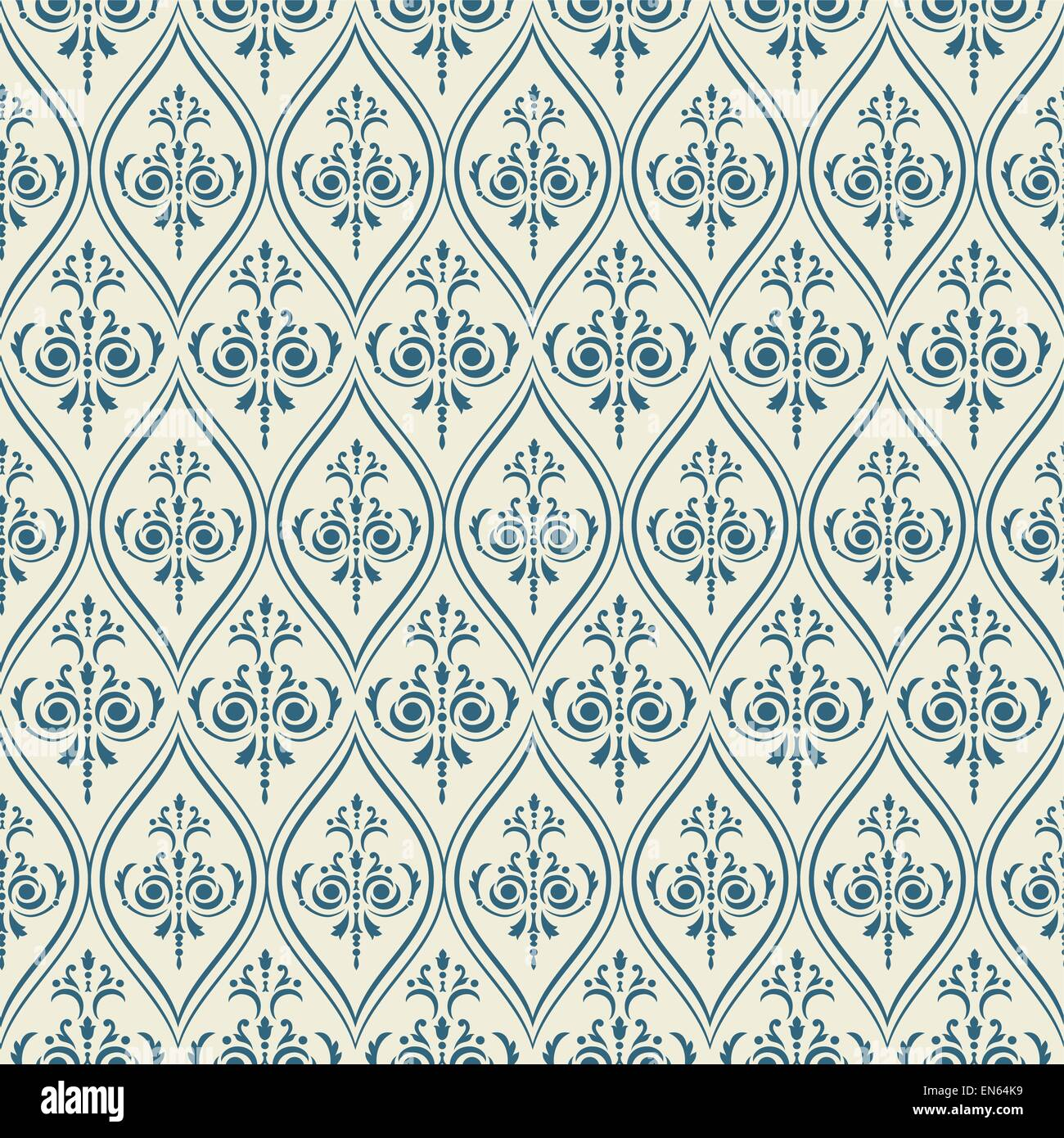 damask pattern seamless vintage background vector