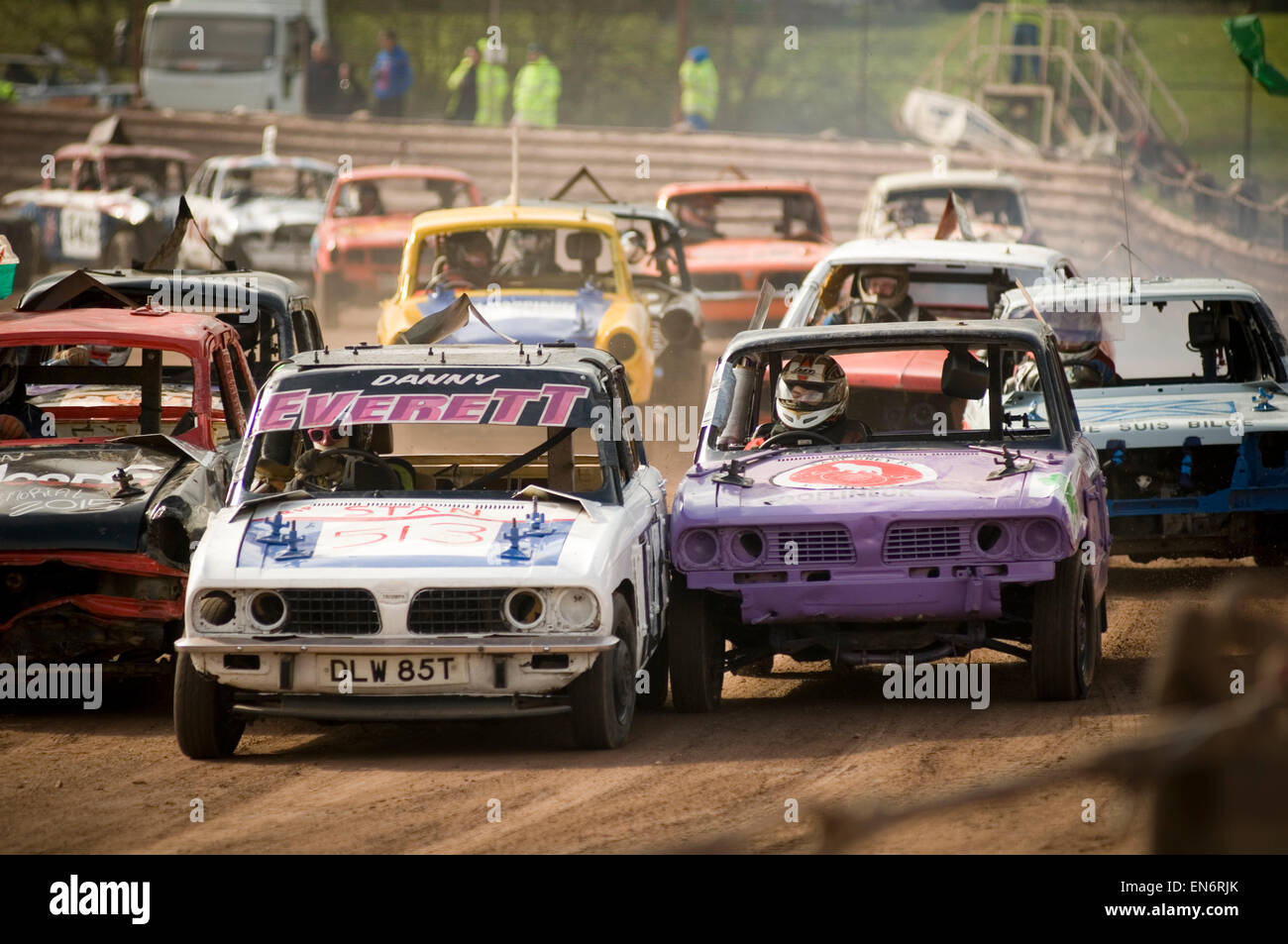 banger race racing races old car cars scrap junk stock car cars ...