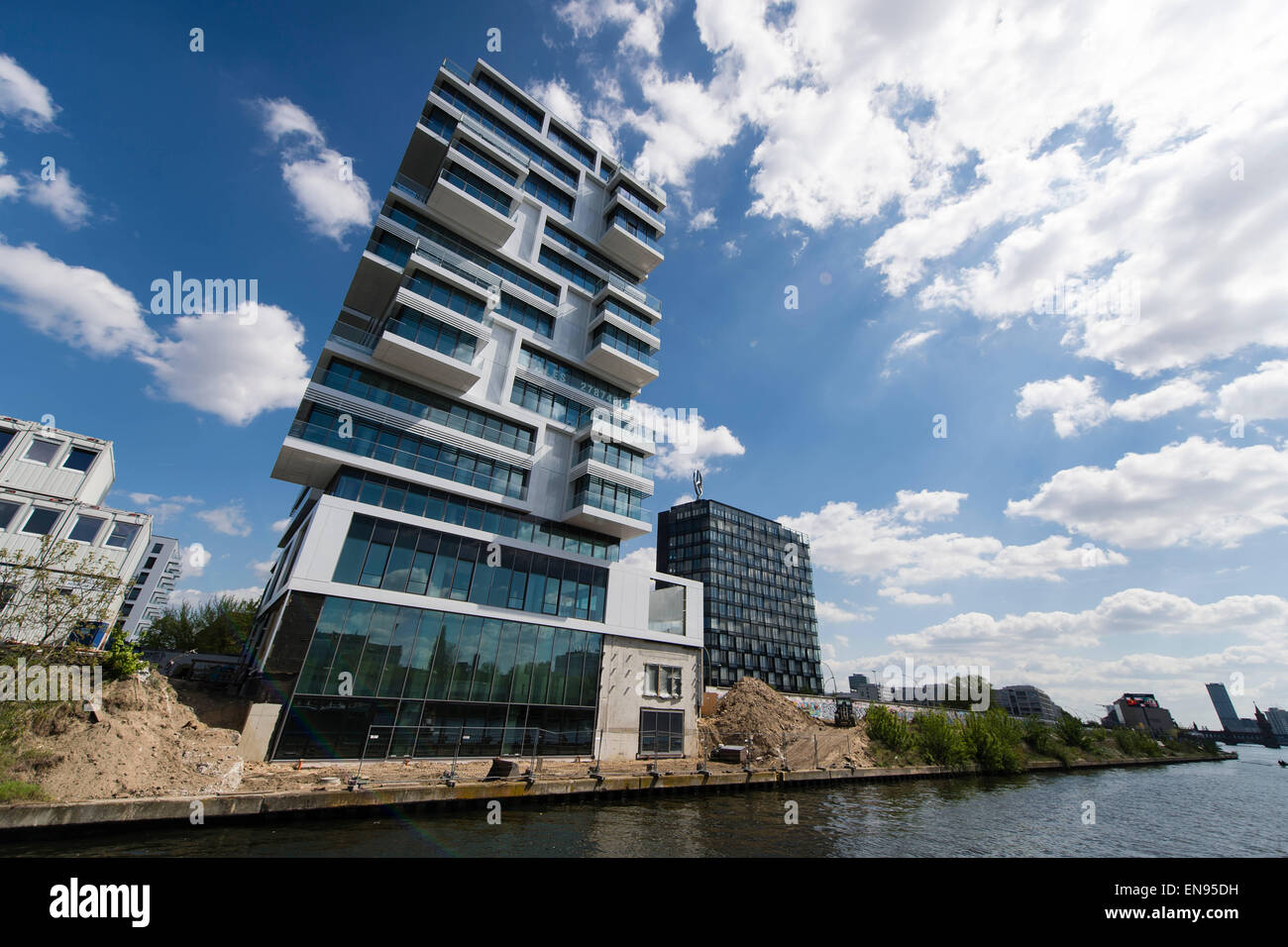 berlin germany 29th apr 2015 the luxury high rise 39 living levels 39 stock photo royalty free. Black Bedroom Furniture Sets. Home Design Ideas