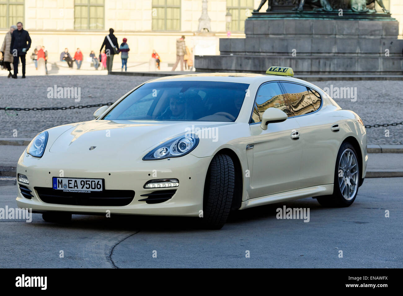 porsche panamera taxi car munich upper bavaria germany europe stock photo royalty free. Black Bedroom Furniture Sets. Home Design Ideas