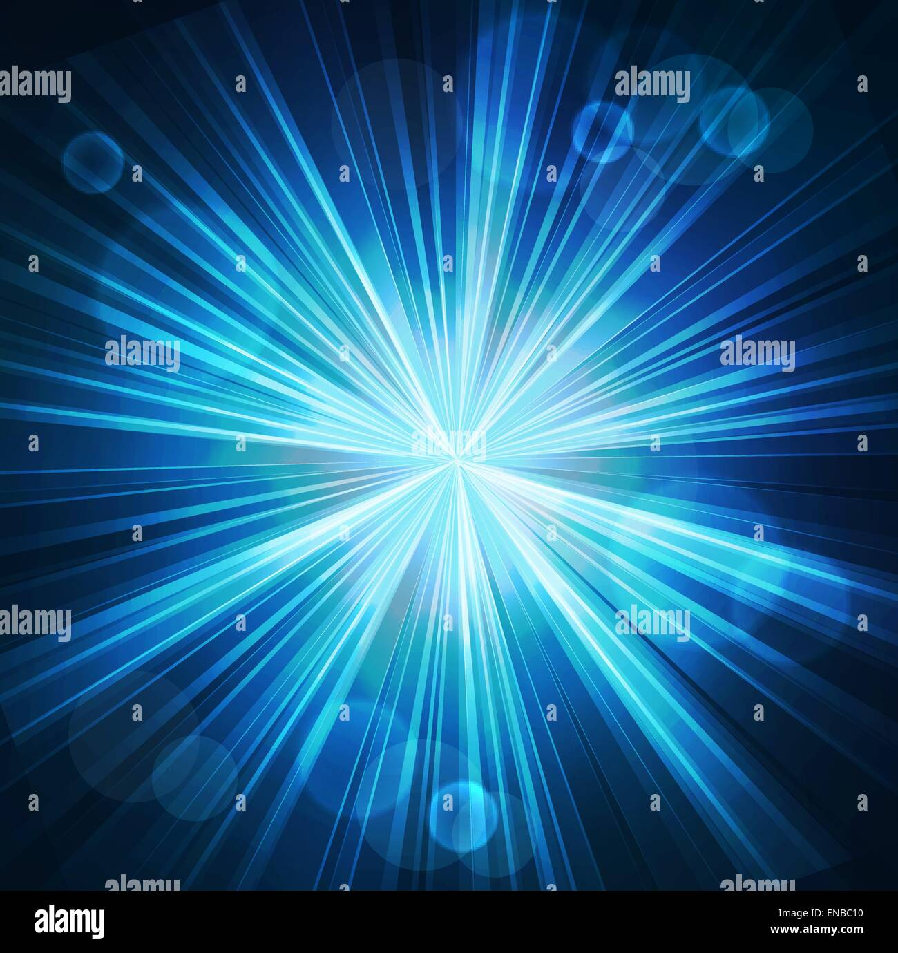 Vector illustration Abstract blue starburst light ...