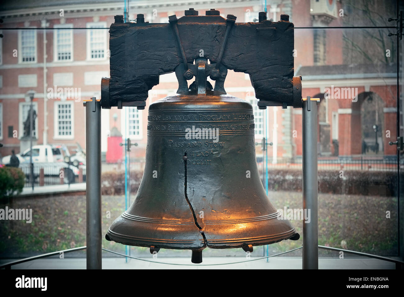 Liberty Bell And Independence Hall In Philadelphia Stock Photo ...