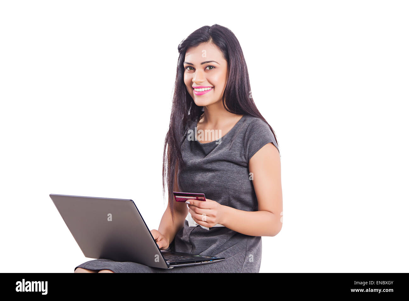 1 indian business woman laptop credit card shoping stock photo 1 indian business woman laptop credit card shoping reheart Images