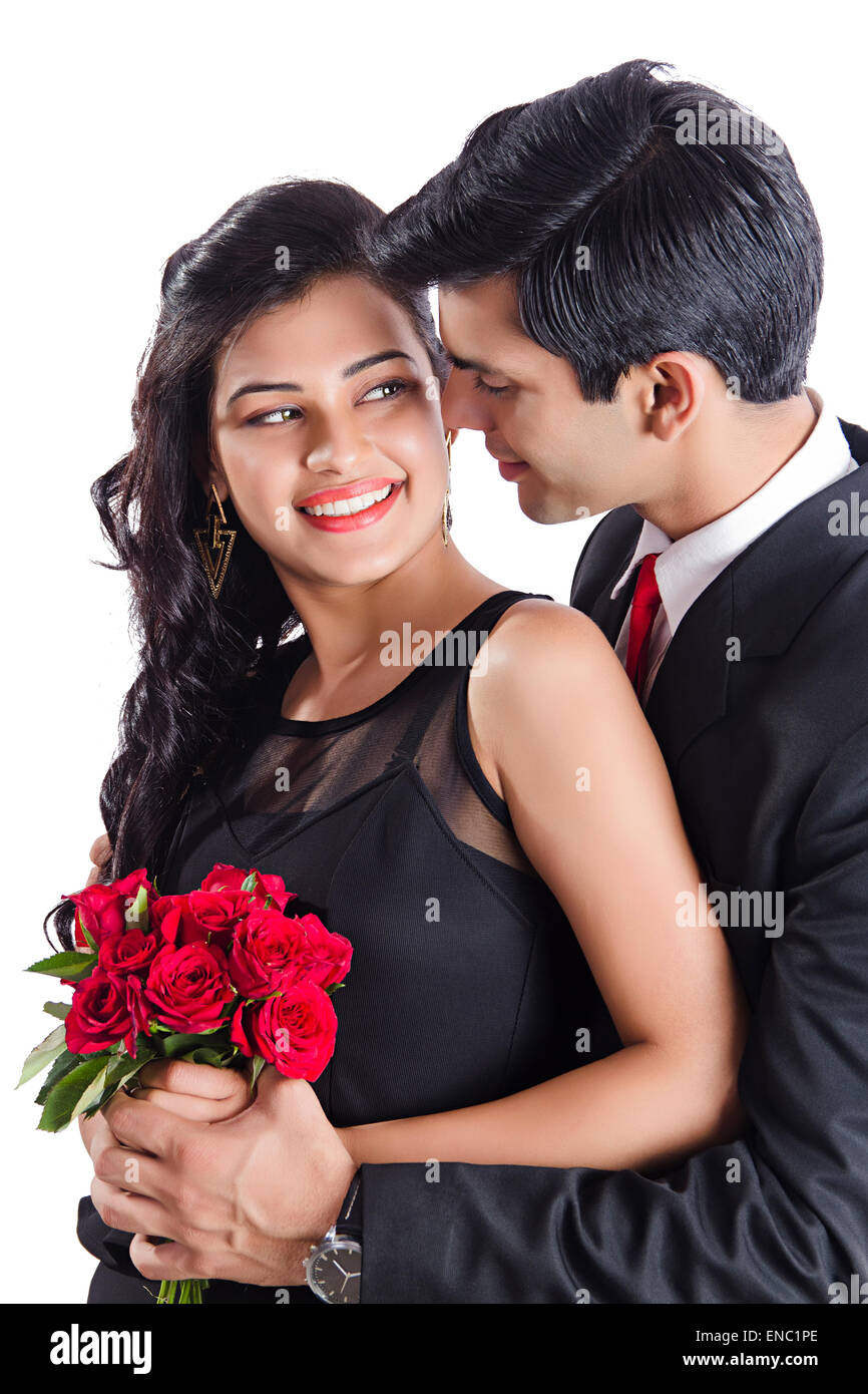 2 Indian Business Couple Proposing Valentine Day