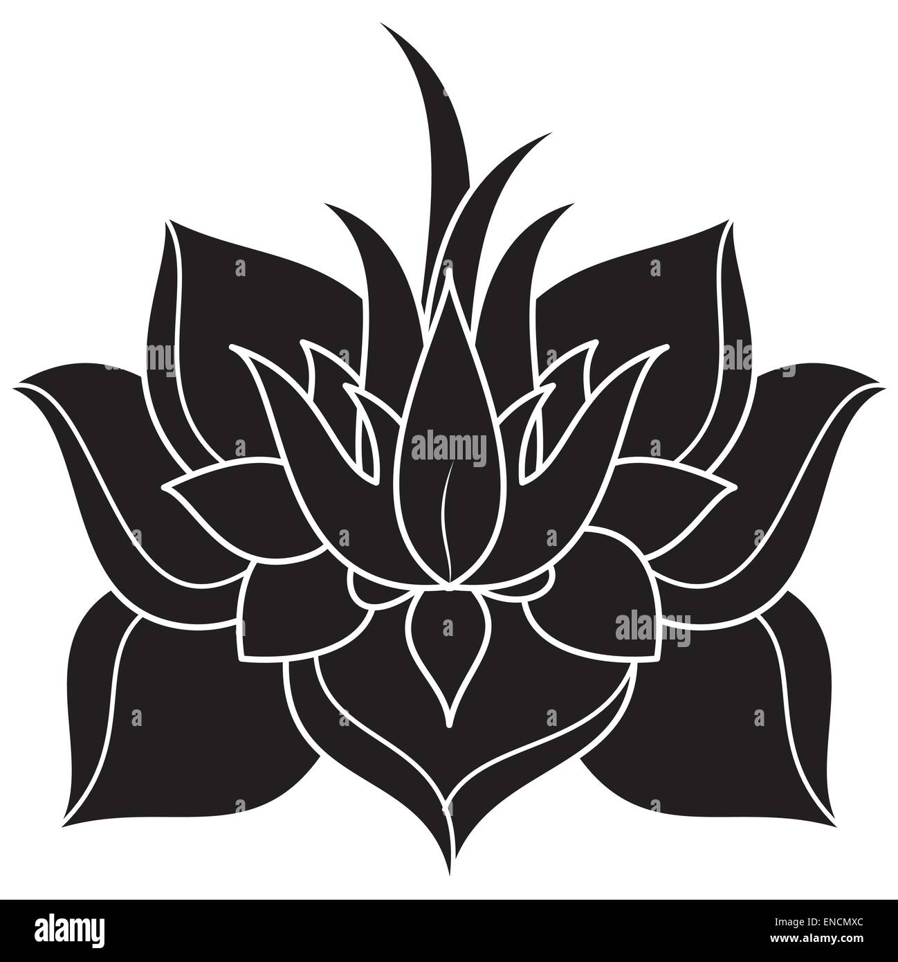 Lotus Flower Silhouette Stock Vector Art & Illustration Vector Image 82