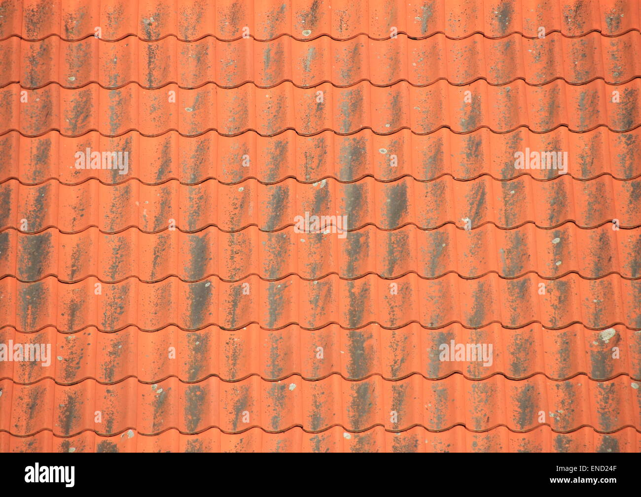 Old Red Roof Tiles With Black Patina