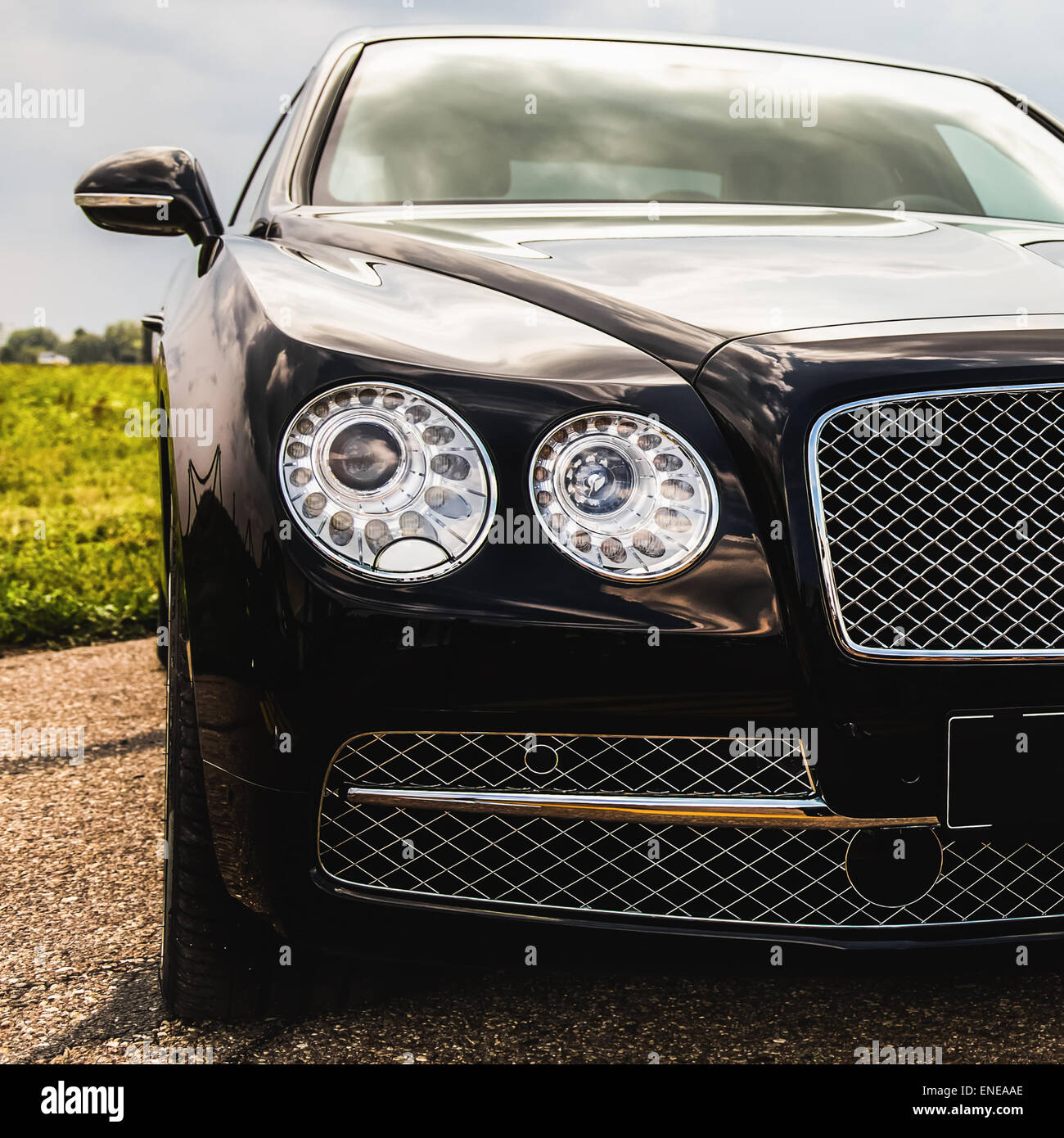 Front light of modern automobile Stock Photo, Royalty Free Image ...