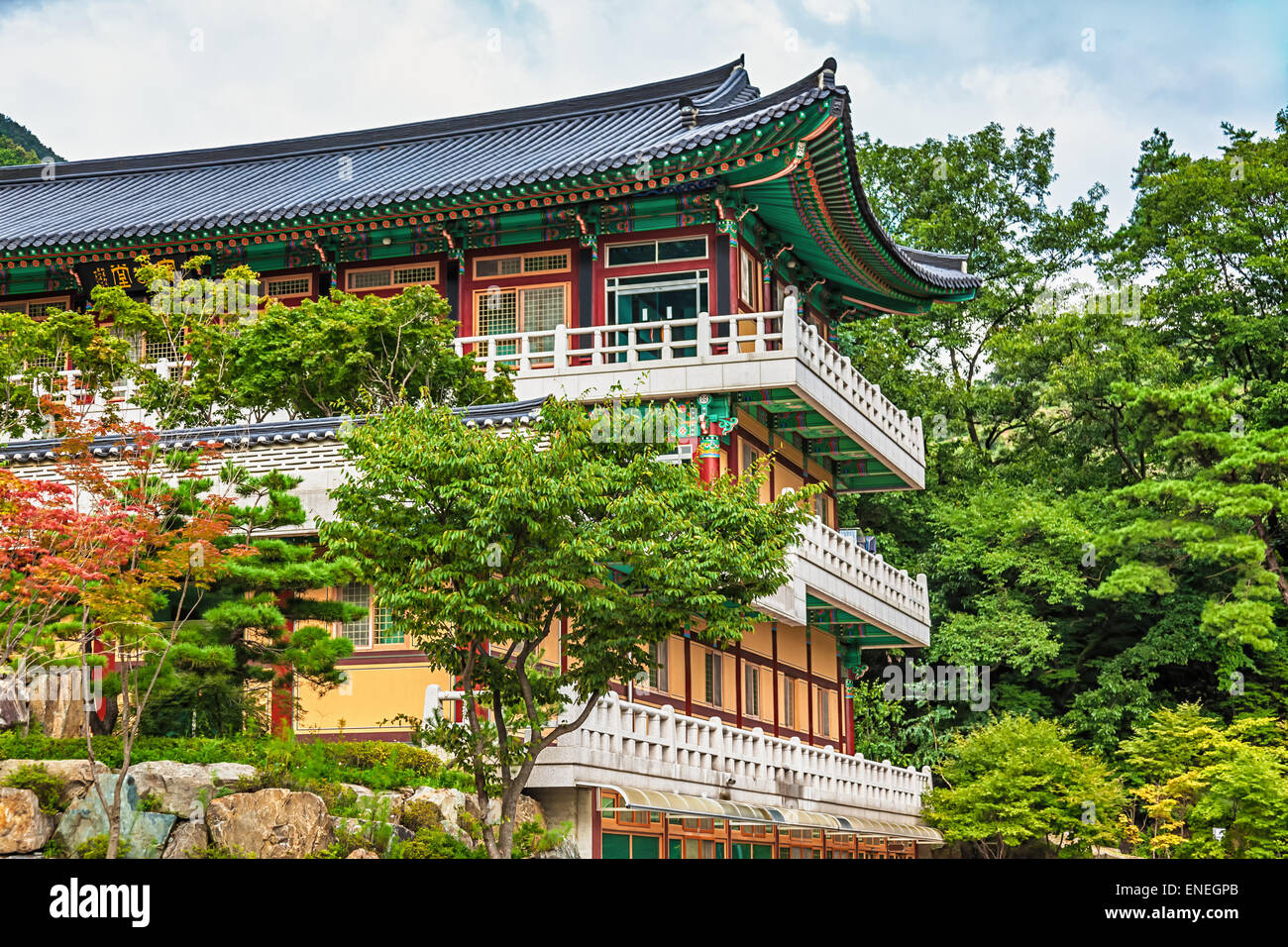 Traditional Korean Architecture Old Building Or Monks Temple In South Korea