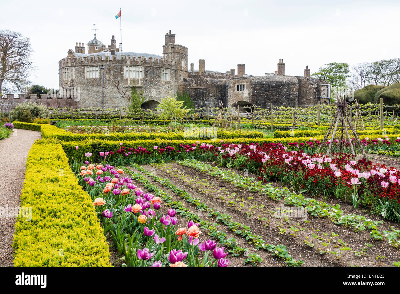 English Kitchen Garden Walmer Castle Deal Kitchen Garden English Heritage Kent Uk Stock