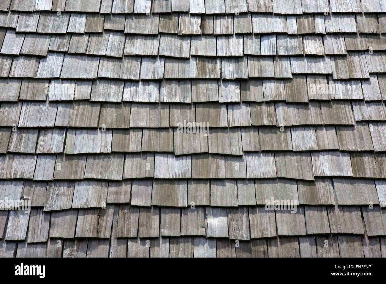 Stock Photo   Wood Roof Shingles
