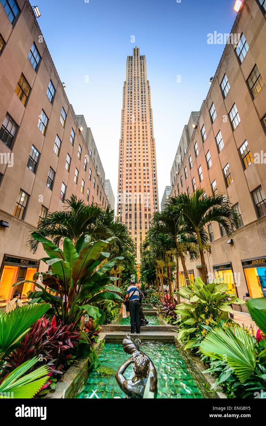 New York City At Rockefeller Center In The Summer Stock