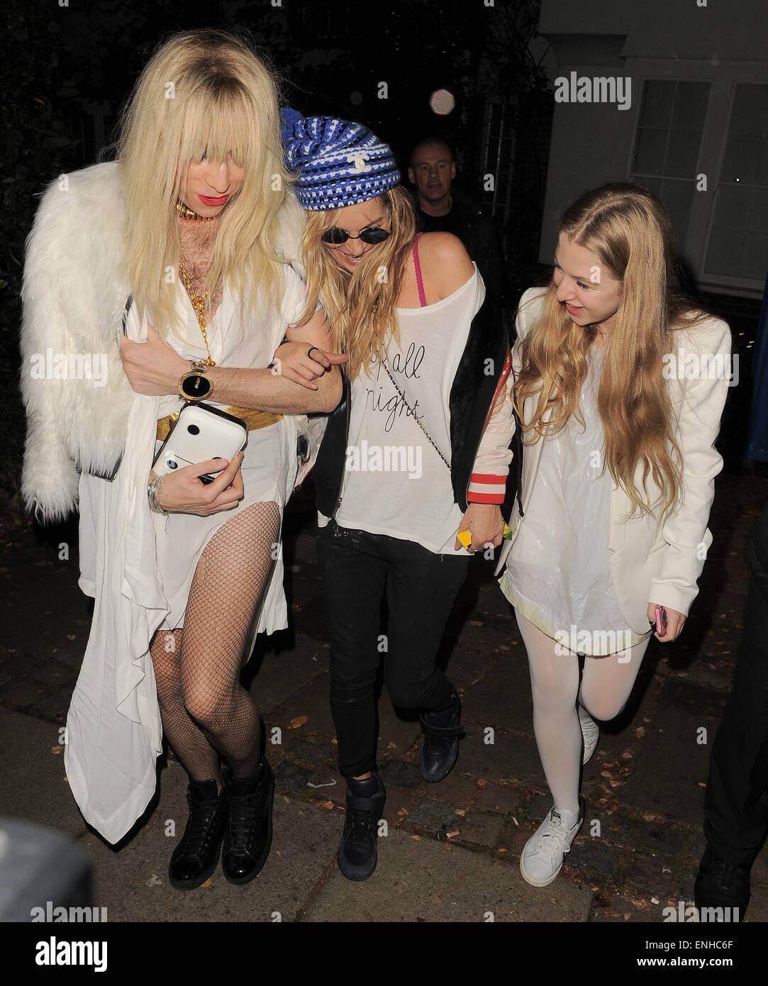 Jonathan Ross' Halloween party - Arrivals. Kate Moss attends ...