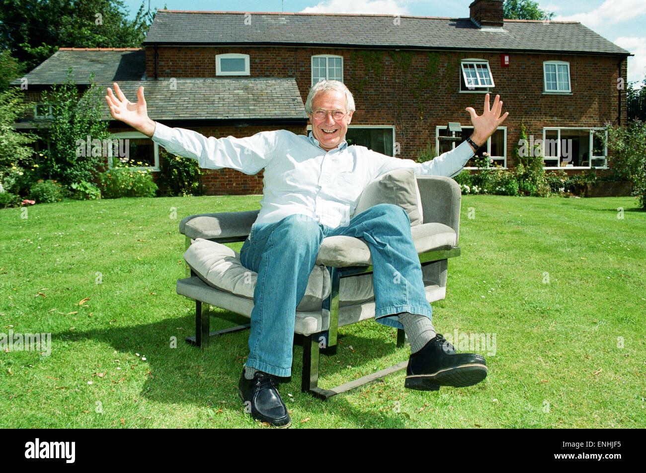 Barry Norman Film Critic Seen Here In The Garden Of His