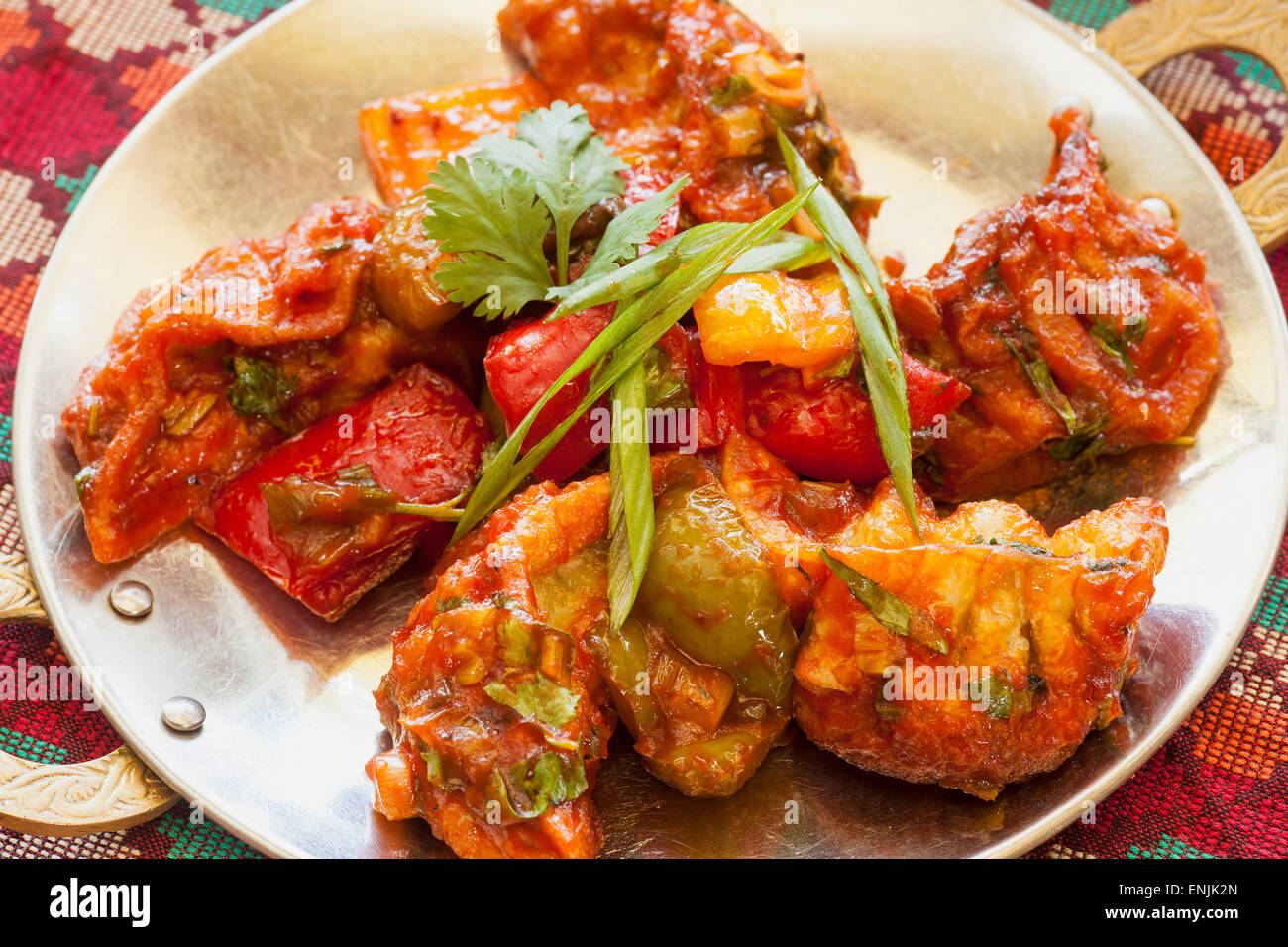 Chicken pan fried momo