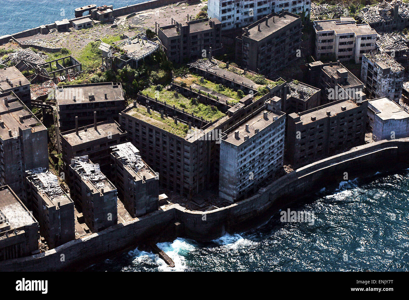 Hashima, Nagasaki, Japan. Also known as Gunkanjima (battleship Stock Photo, R...
