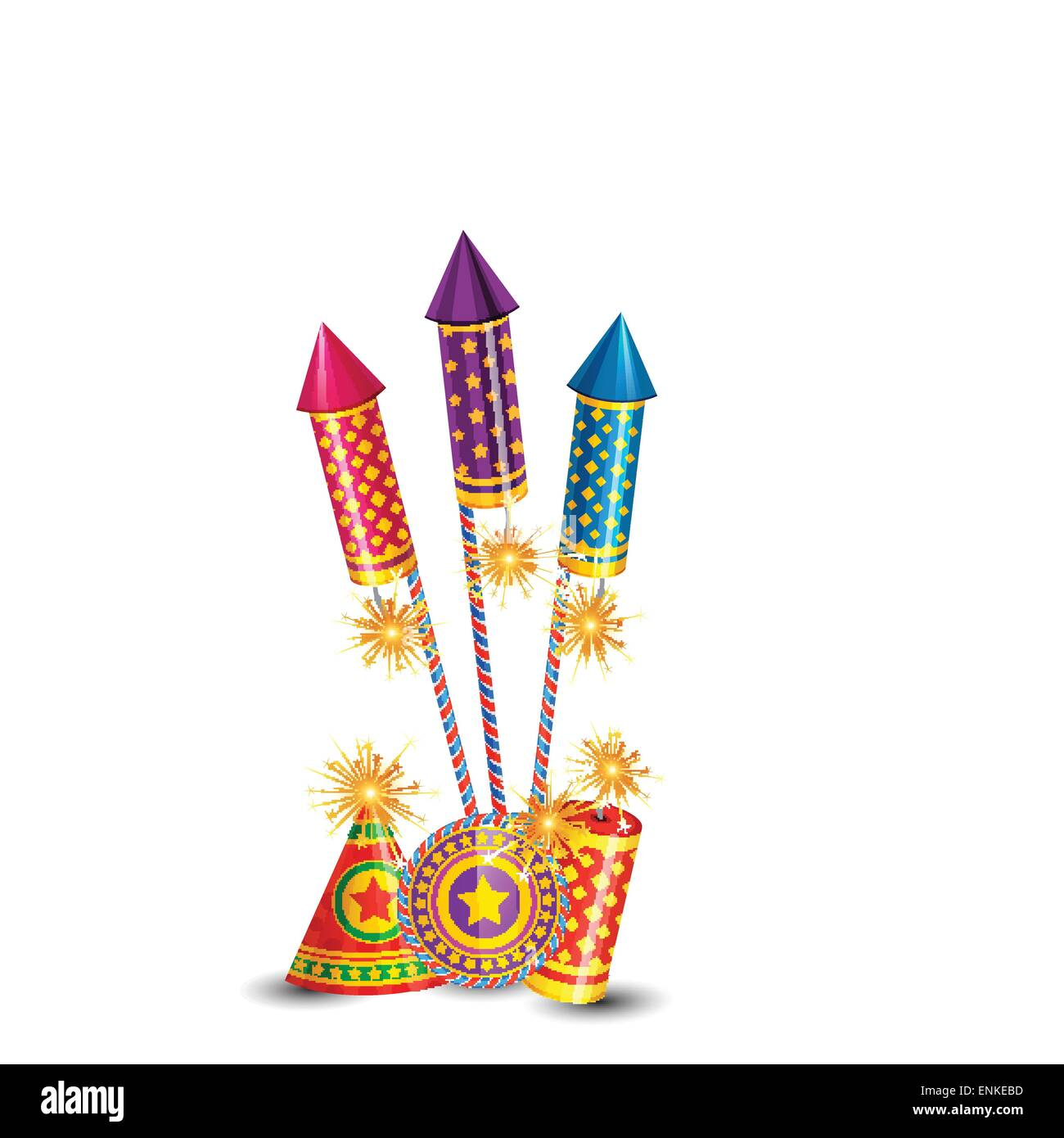 Vector Diwali Crackers Background