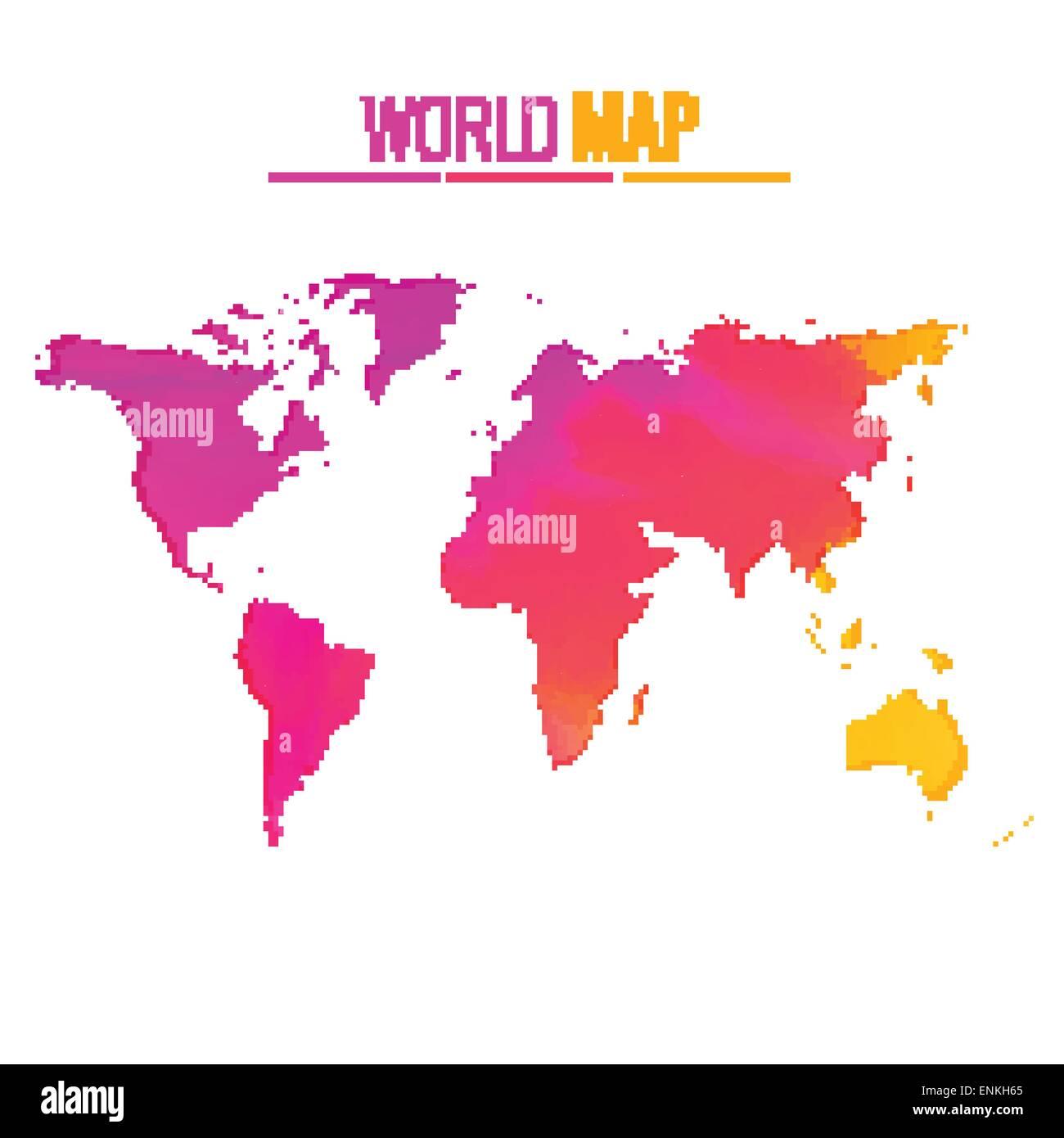 Colorful world map vector design illustration stock vector art colorful world map vector design illustration gumiabroncs Gallery
