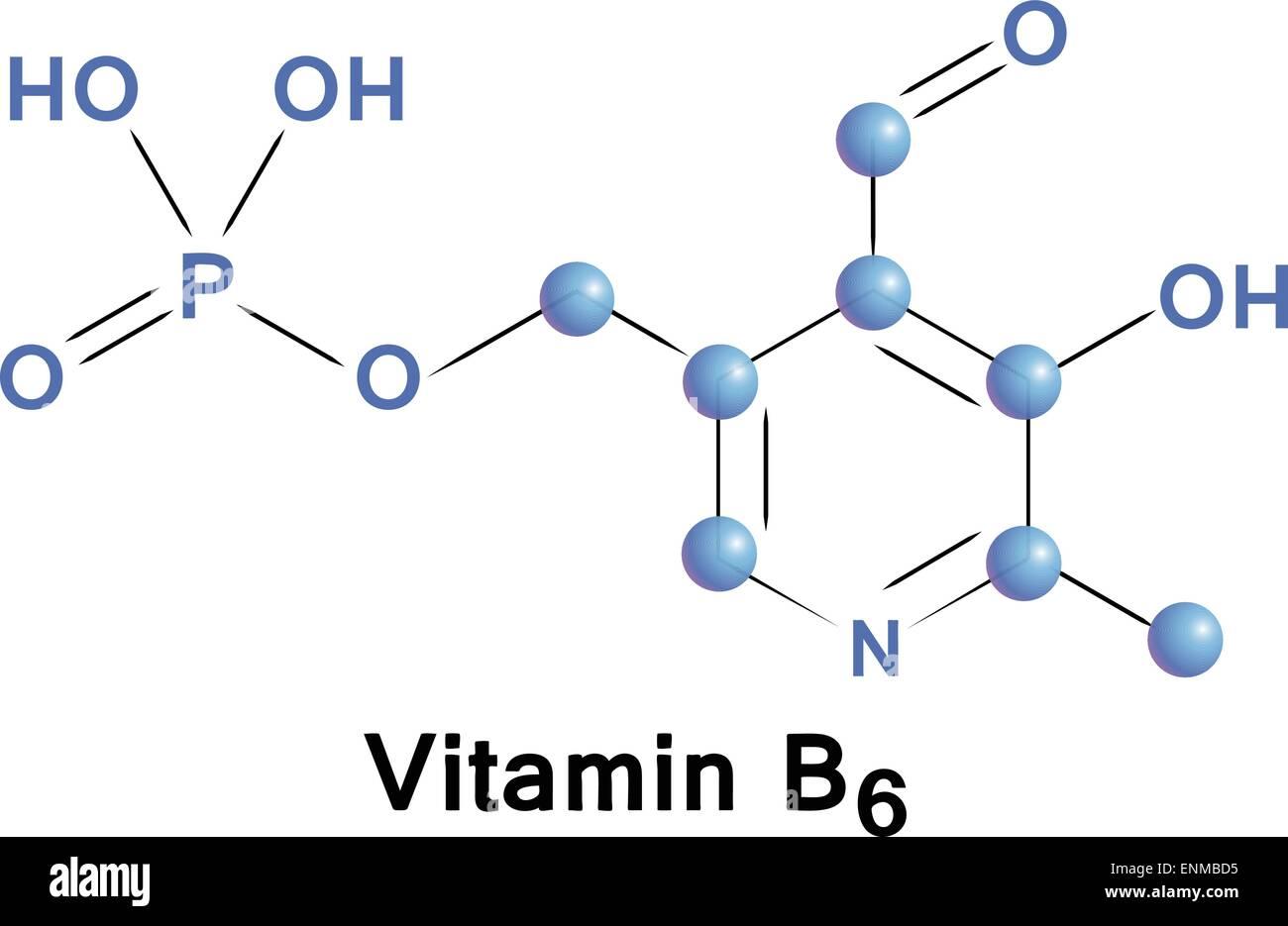 Vitamin b6 chemical formula molecule structure medical vector vitamin b6 chemical formula molecule structure medical vector illustration pooptronica