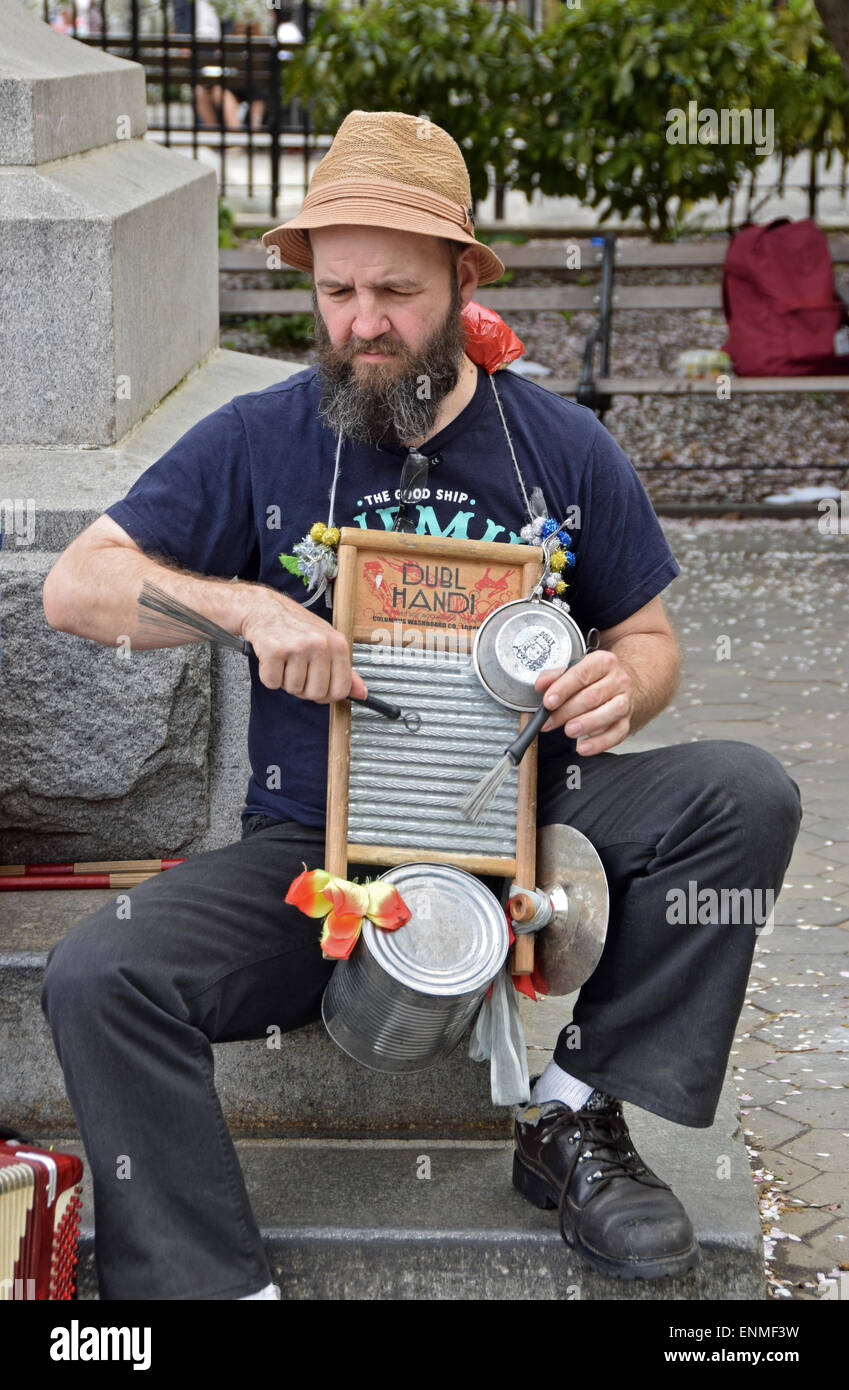 a musician playing the washboard in washington square park in stock photo royalty free image. Black Bedroom Furniture Sets. Home Design Ideas