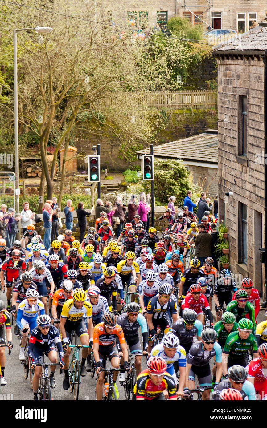 Riders In The Tour De Yorkshire On The Keighley Road