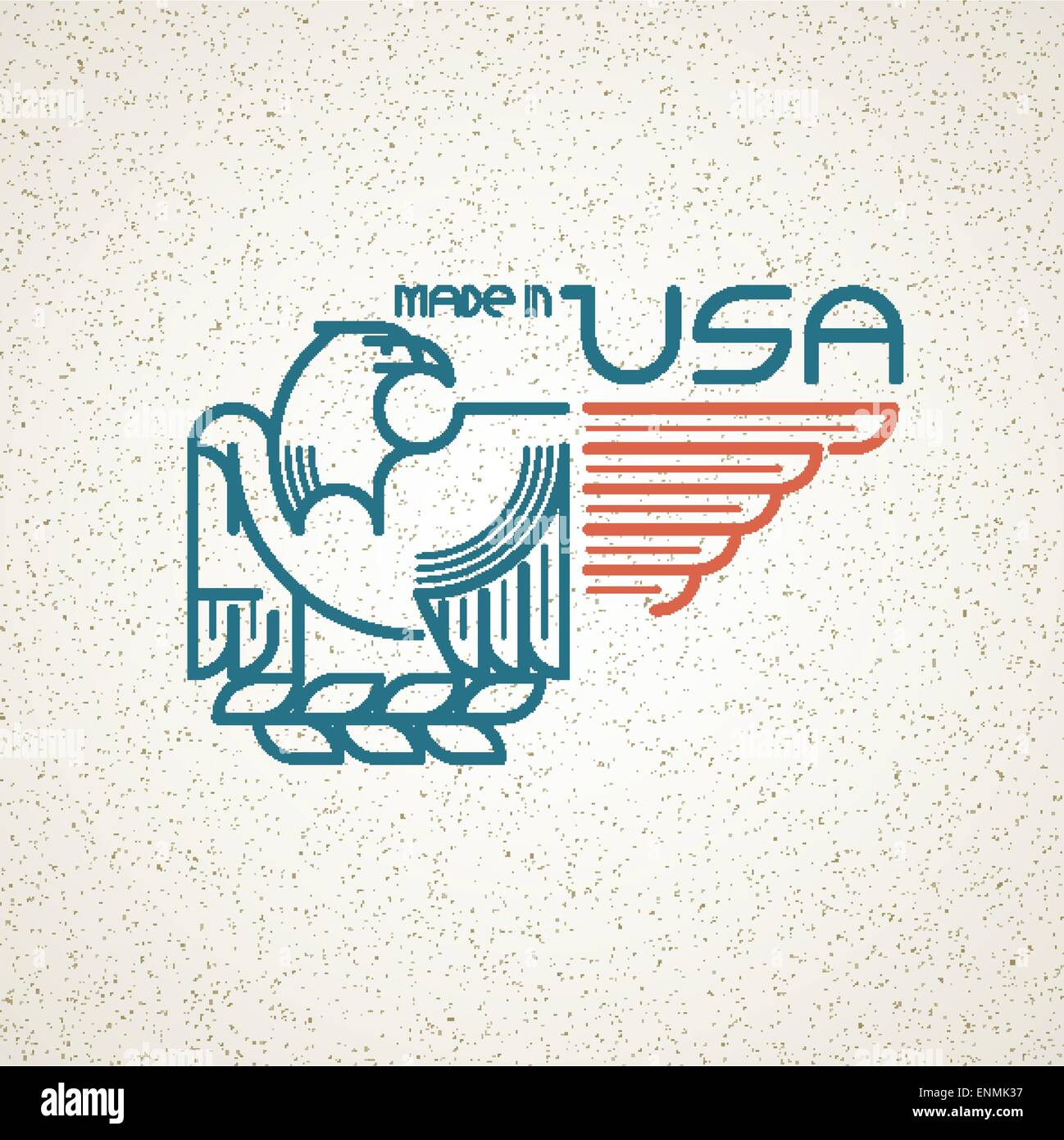Made in the usa symbol with american flag and eagle templates made in the usa symbol with american flag and eagle templates emblems vector illustration eps 10 buycottarizona