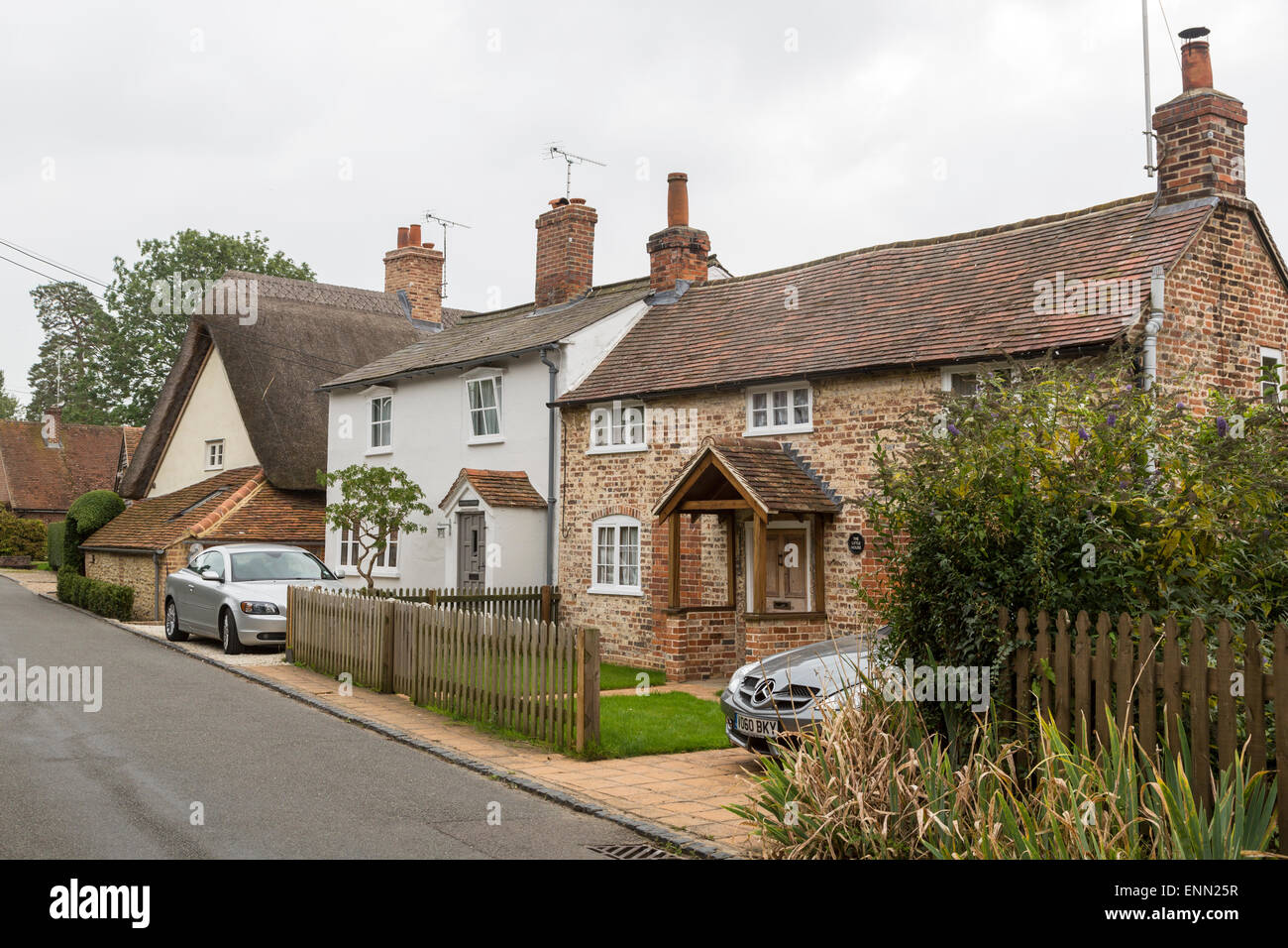 Uk england ewelme quiet street scene in a small english for British house store