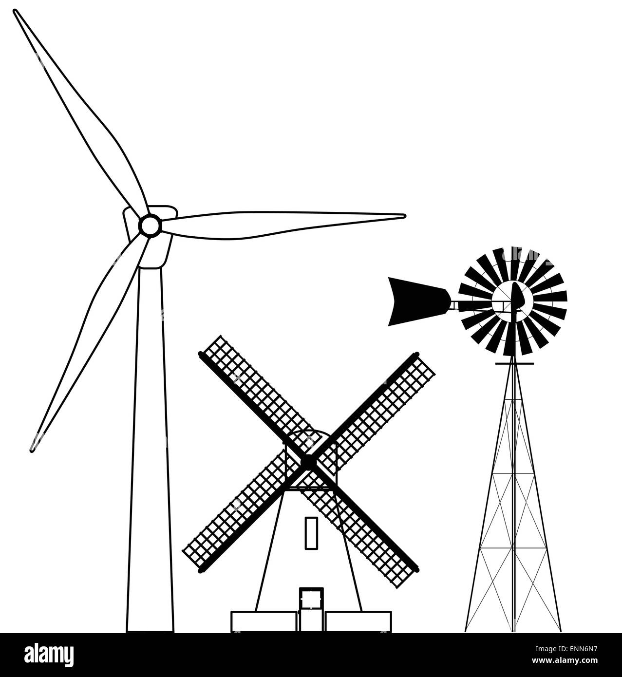 Windmill collection stock vector art illustration vector image windmill collection pooptronica Gallery
