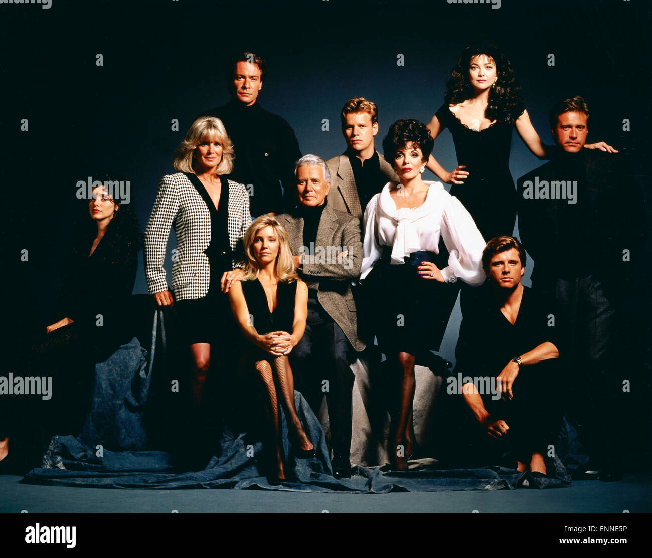 dynasty the reunion tv serie usa 1981 1991 aka der denver stock photo royalty free. Black Bedroom Furniture Sets. Home Design Ideas