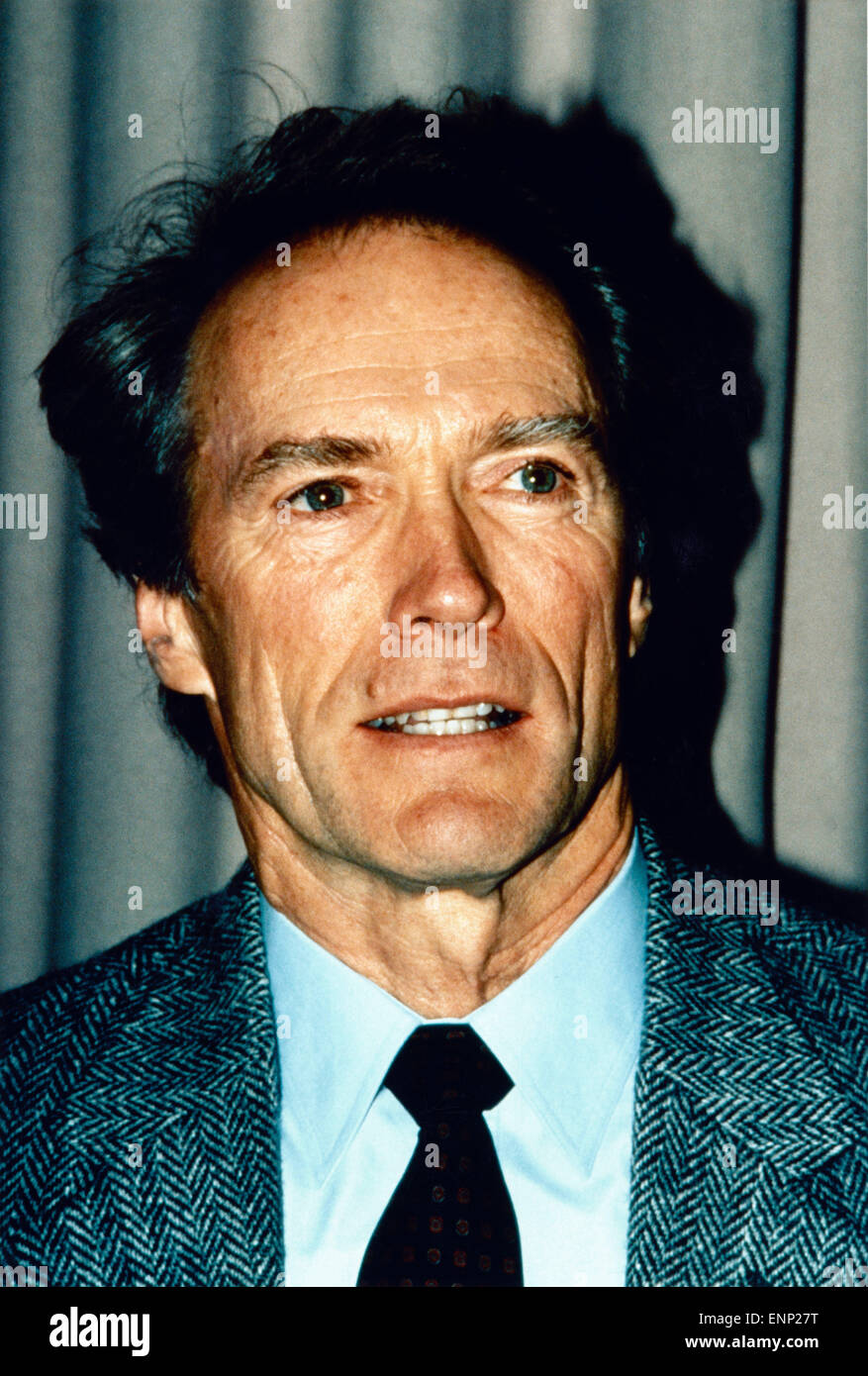 der us amerikanische schauspieler clint eastwood anfang 1980er stock photo royalty free image. Black Bedroom Furniture Sets. Home Design Ideas