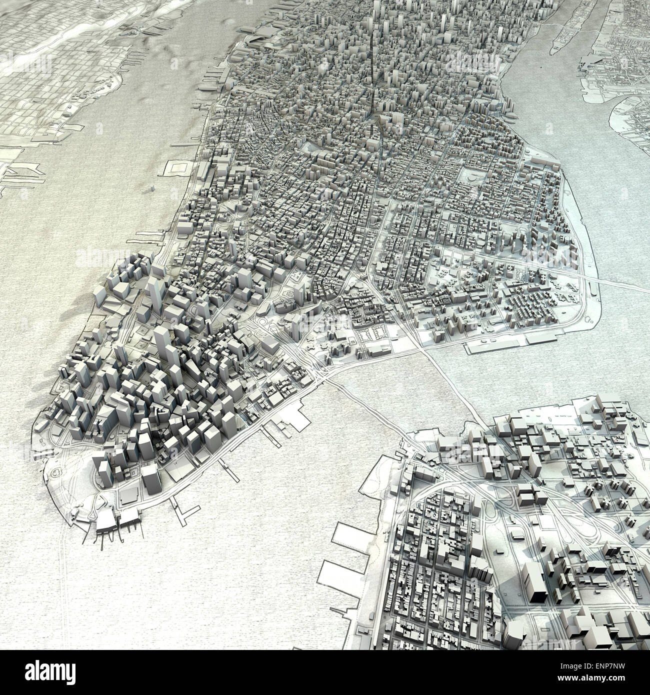 D New York Map Illustration Stock Photo Royalty Free Image - New york map in 3d