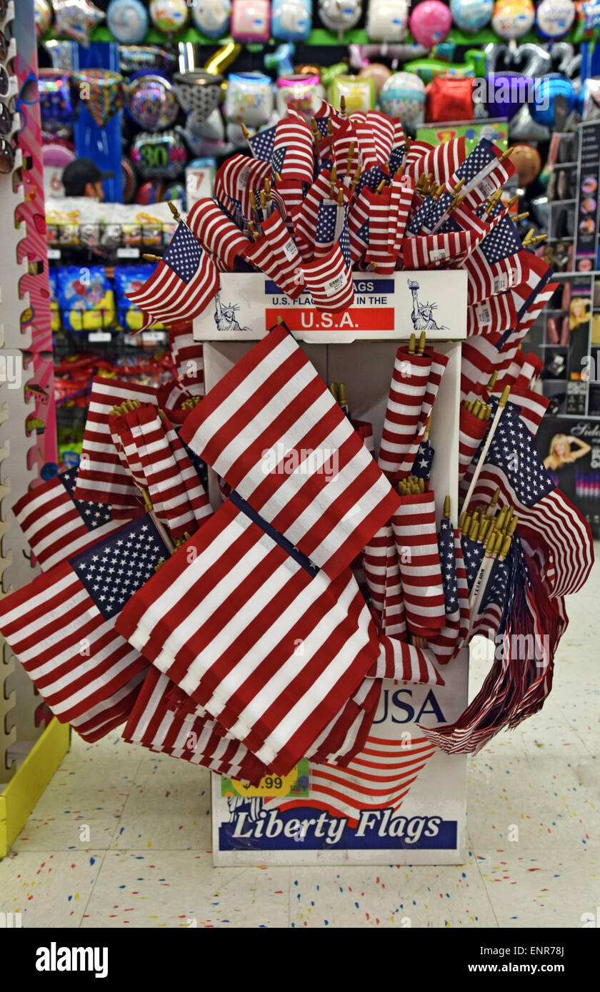 A Display Of American Flags For Sale For The 4th Of July
