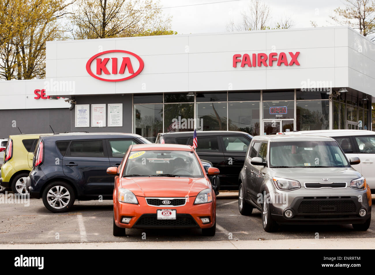 Kia car dealership usa stock photo royalty free image Kia motor dealers